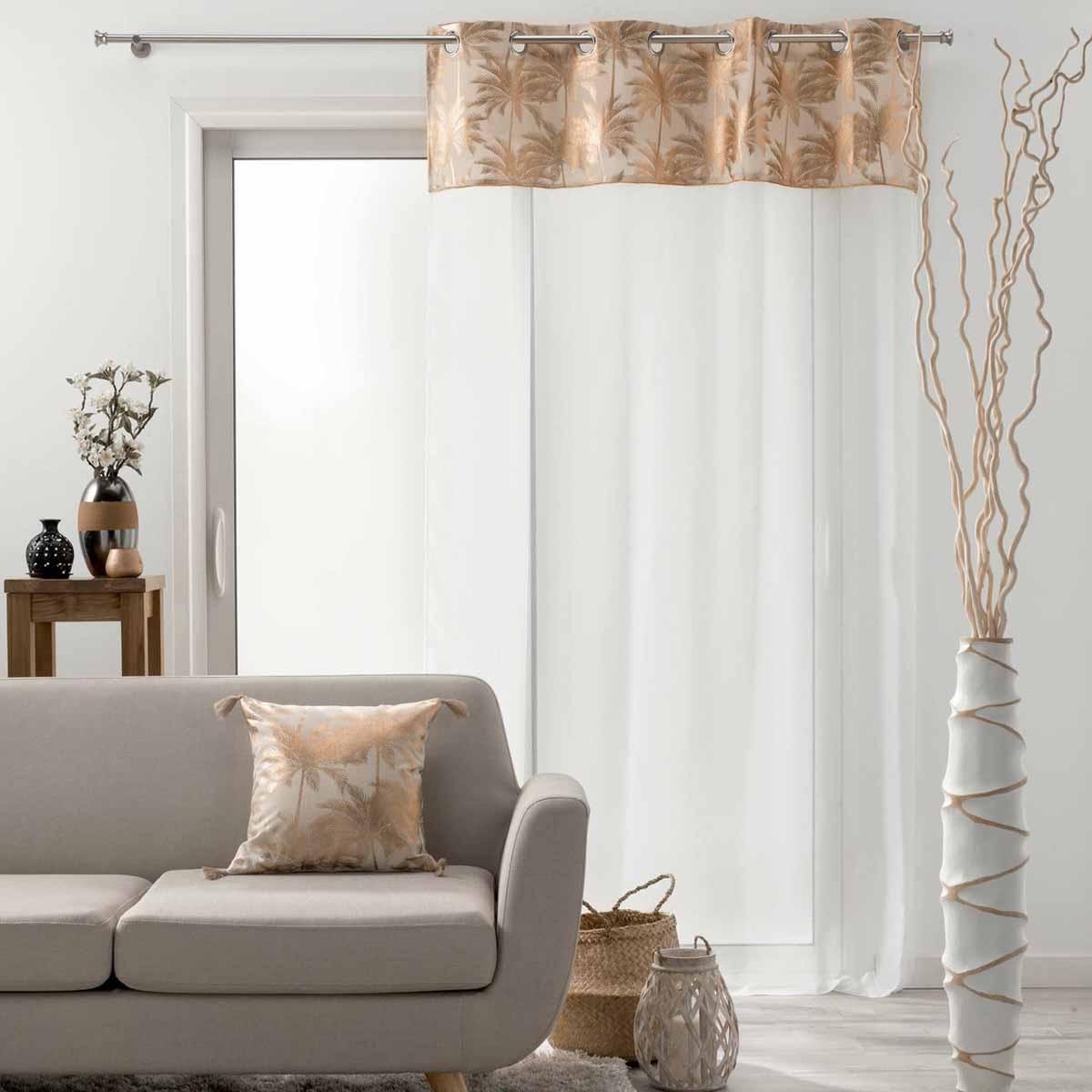 Κουρτίνα (140×240) Με Τρουκς L-C Palmy Shine 1626476