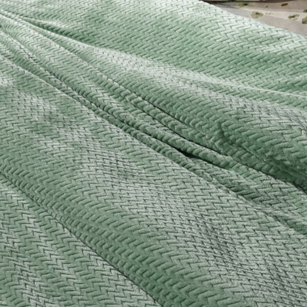 Κουβέρτα Fleece Υπέρδιπλη Guy Laroche Rombus Olive