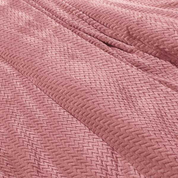 Κουβέρτα Fleece Μονή Guy Laroche Rombus Coral