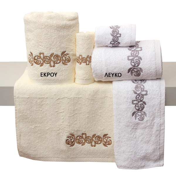 Πετσέτες Μπάνιου (Σετ 3τμχ) Viopros Bath Ideas Σχ 35