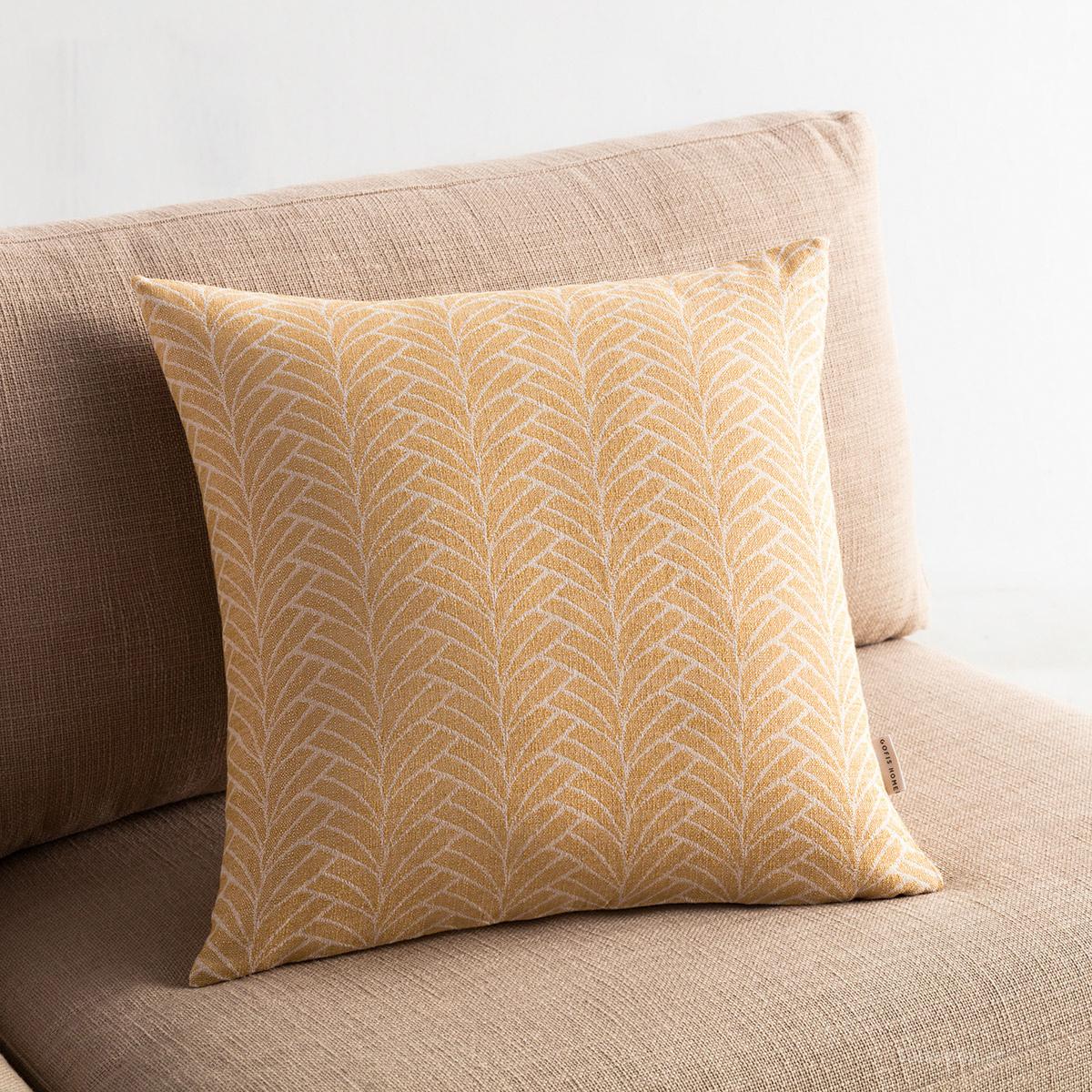 Διακοσμητική Μαξιλαροθήκη (50×50) Gofis Home Seashell Mustard 223/04