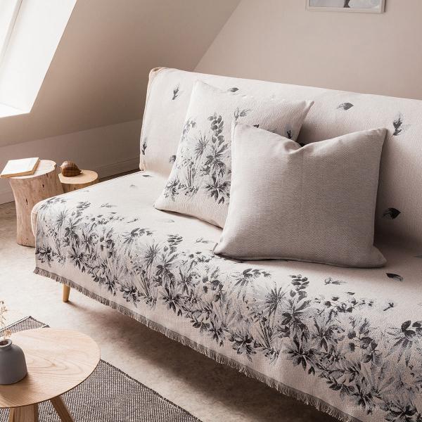 Ριχτάρι Τετραθέσιου (180x350) Gofis Home Ivy Grey 890/15
