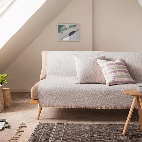 Ριχτάρι Πολυθρόνας (180x180) Gofis Home Seashell Grey 223/15