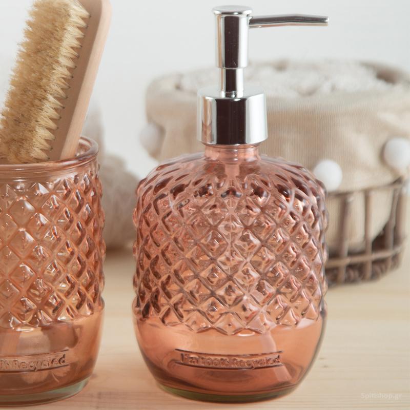Δοχείο Κρεμοσάπουνου Nef-Nef Bath Diamante Pink