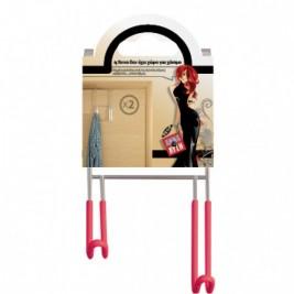 Κρεμάστρα Πόρτας 2 Θέσεων Άννα Λύση Fuchsia