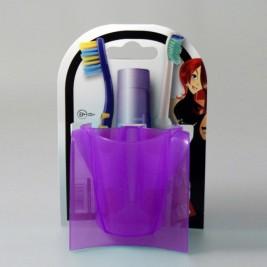Θήκη Μπάνιου 3 θέσεων Άννα Λύση Purple