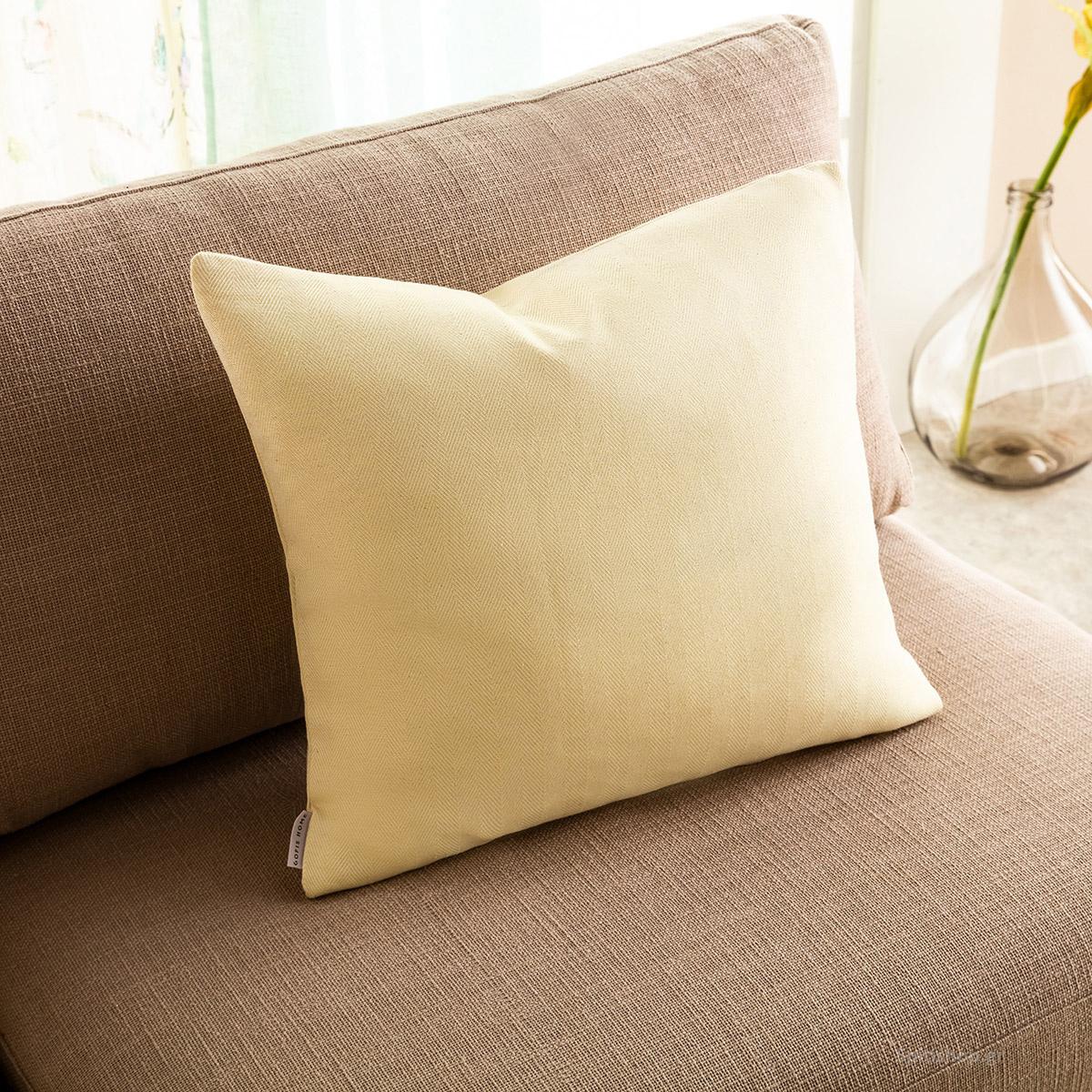 Διακοσμητική Μαξιλαροθήκη (50×50) Gofis Home Rene Lemon 732/10