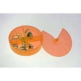 Κουτάκια Τακτοποίησης Άννα Λύση Στρογγυλό Πορτοκαλί