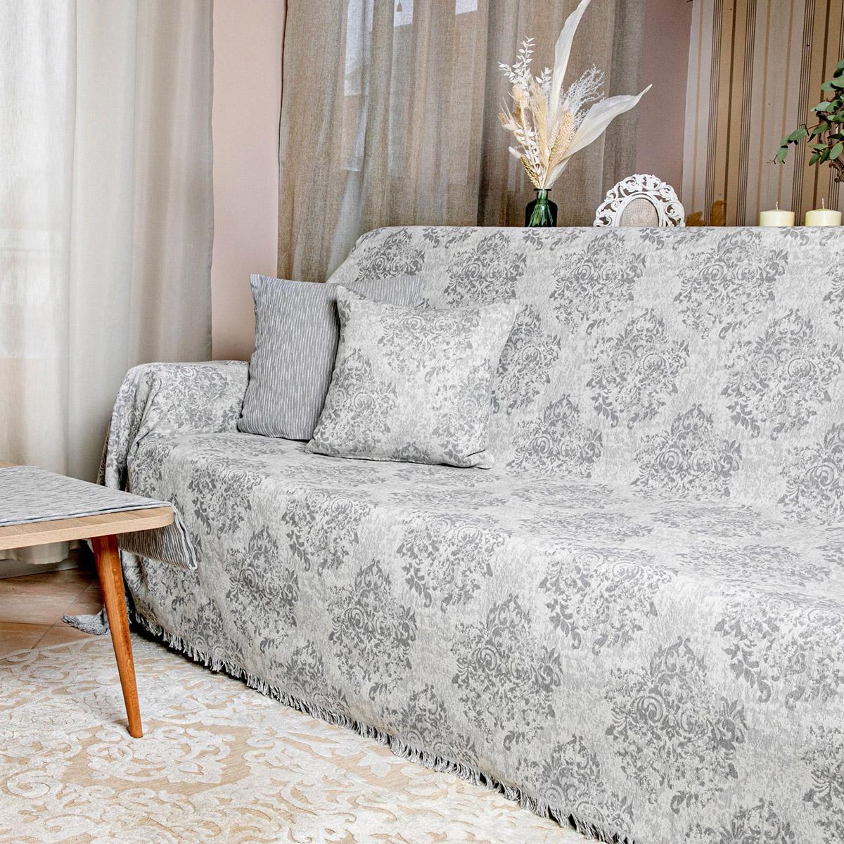 Ριχτάρι Πολυθρόνας (180×180) Loom To Room Anemoni Grey