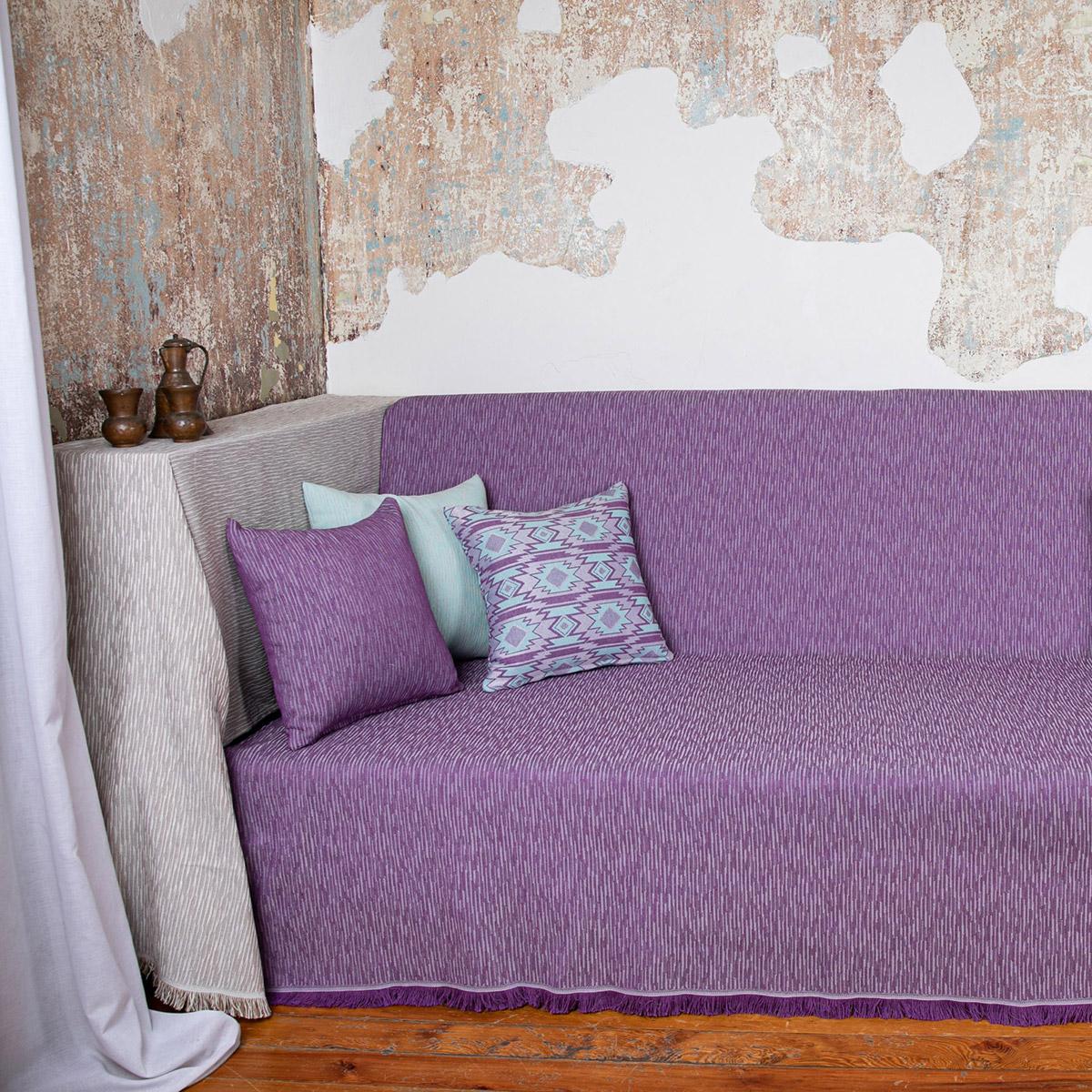 Ριχτάρι Πολυθρόνας (180×180) Loom To Room Calisto Purple