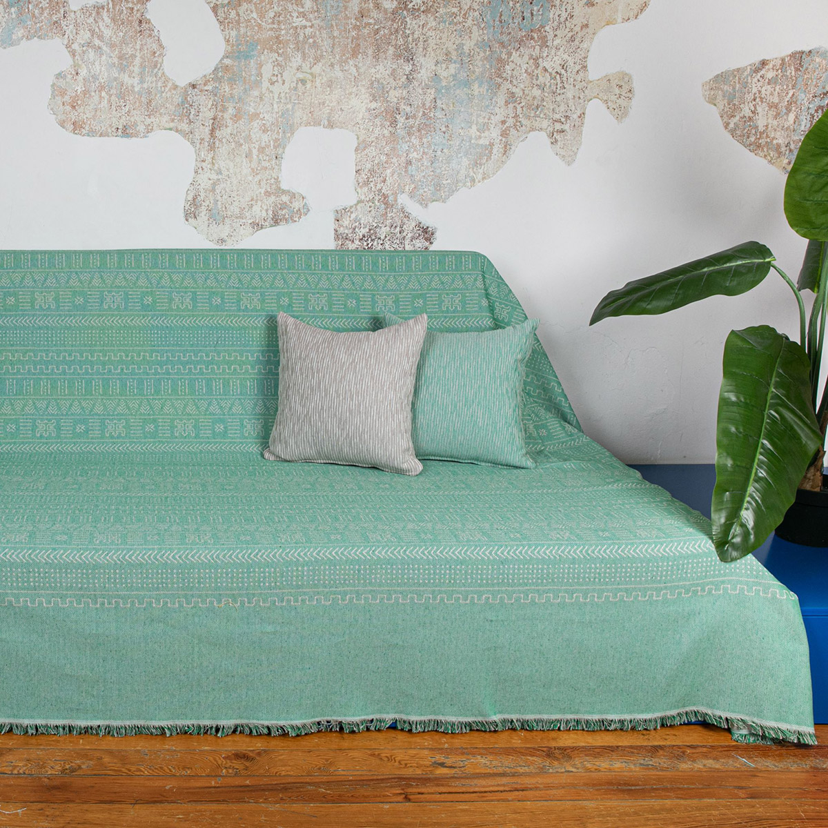 Ριχτάρι Τετραθέσιου (180×350) Loom To Room Kleio Green