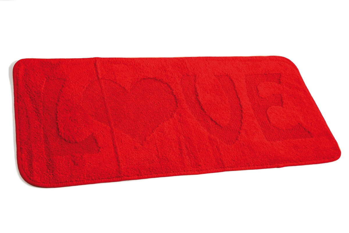 Πατάκι Μπάνιου (55x110) Dimitracas Love 05686 Κόκκινο