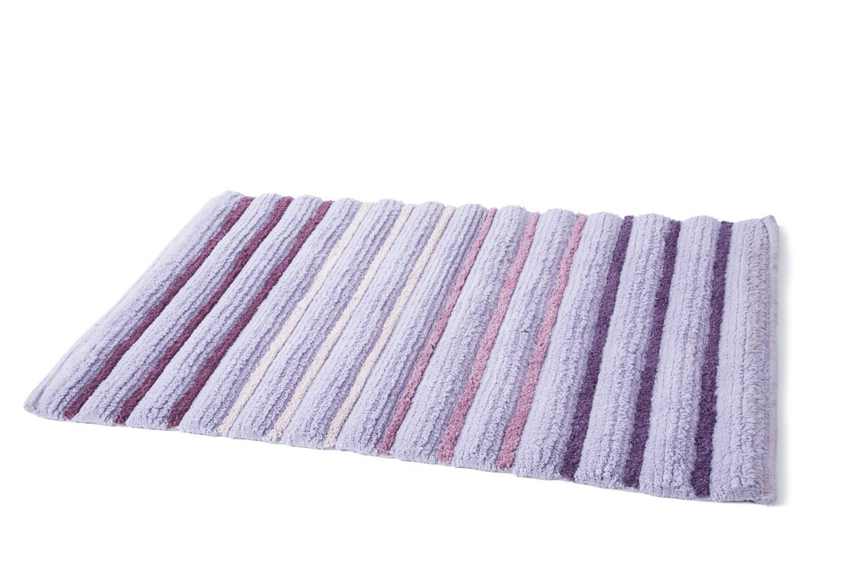 Πατάκι Μπάνιου (50x80) Dimitracas Softstripe 05583 Μωβ