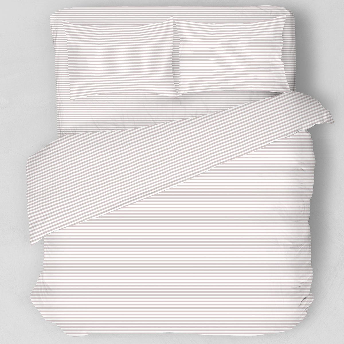 Σεντόνια Υπέρδιπλα (Σετ) Melinen Stripes Apple Brown ΜΕ ΛΑΣΤΙΧΟ 160×200+32 ΜΕ ΛΑΣΤΙΧΟ 160×200+32
