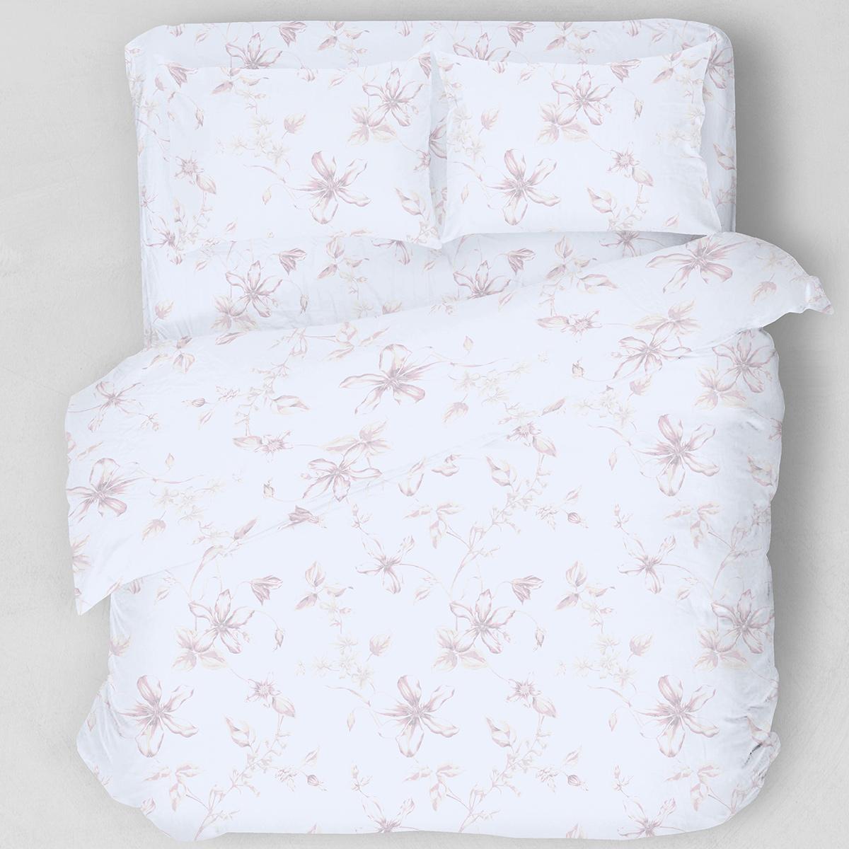 Σεντόνια Υπέρδιπλα (Σετ) Melinen Flowers Pink ΜΕ ΛΑΣΤΙΧΟ 160×200+32 ΜΕ ΛΑΣΤΙΧΟ 160×200+32