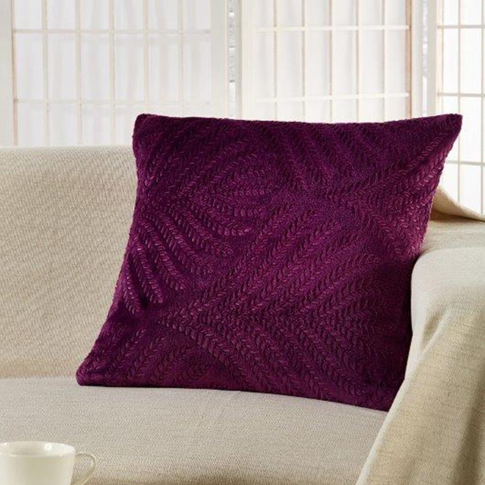 Διακοσμητική Μαξιλαροθήκη (45×45) Whitegg D068/5 D.Purple