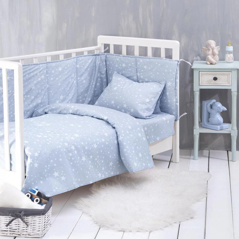 Παπλωματοθήκη Κούνιας (Σετ) Rythmos Baby Estella Ciel