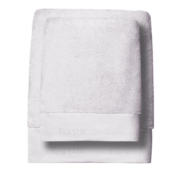 Πετσέτες Μπάνιου (Σετ 3τμχ) Makis Tselios Feel 5 White