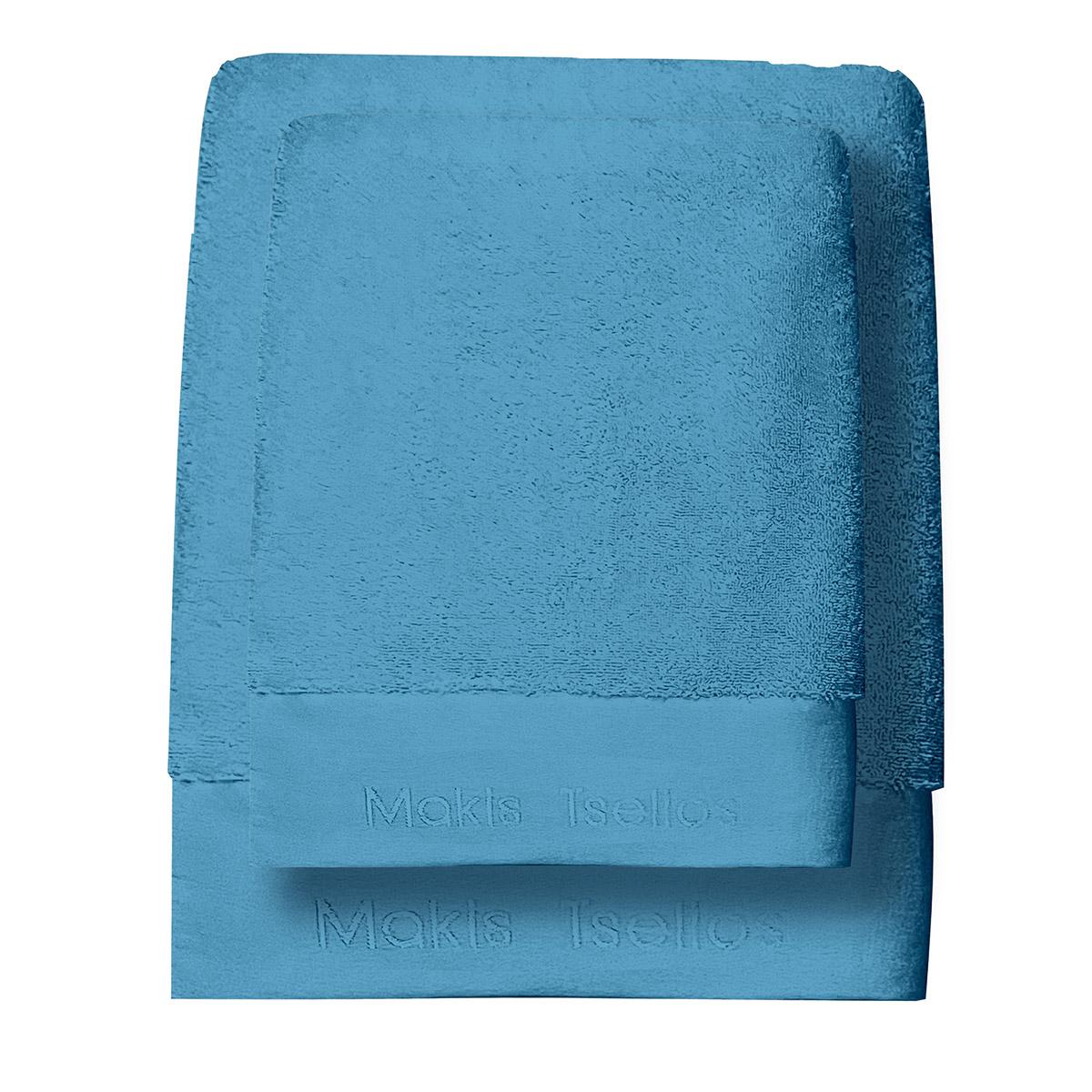 Πετσέτες Μπάνιου (Σετ 3τμχ) Makis Tselios Feel 3 Sky Blue