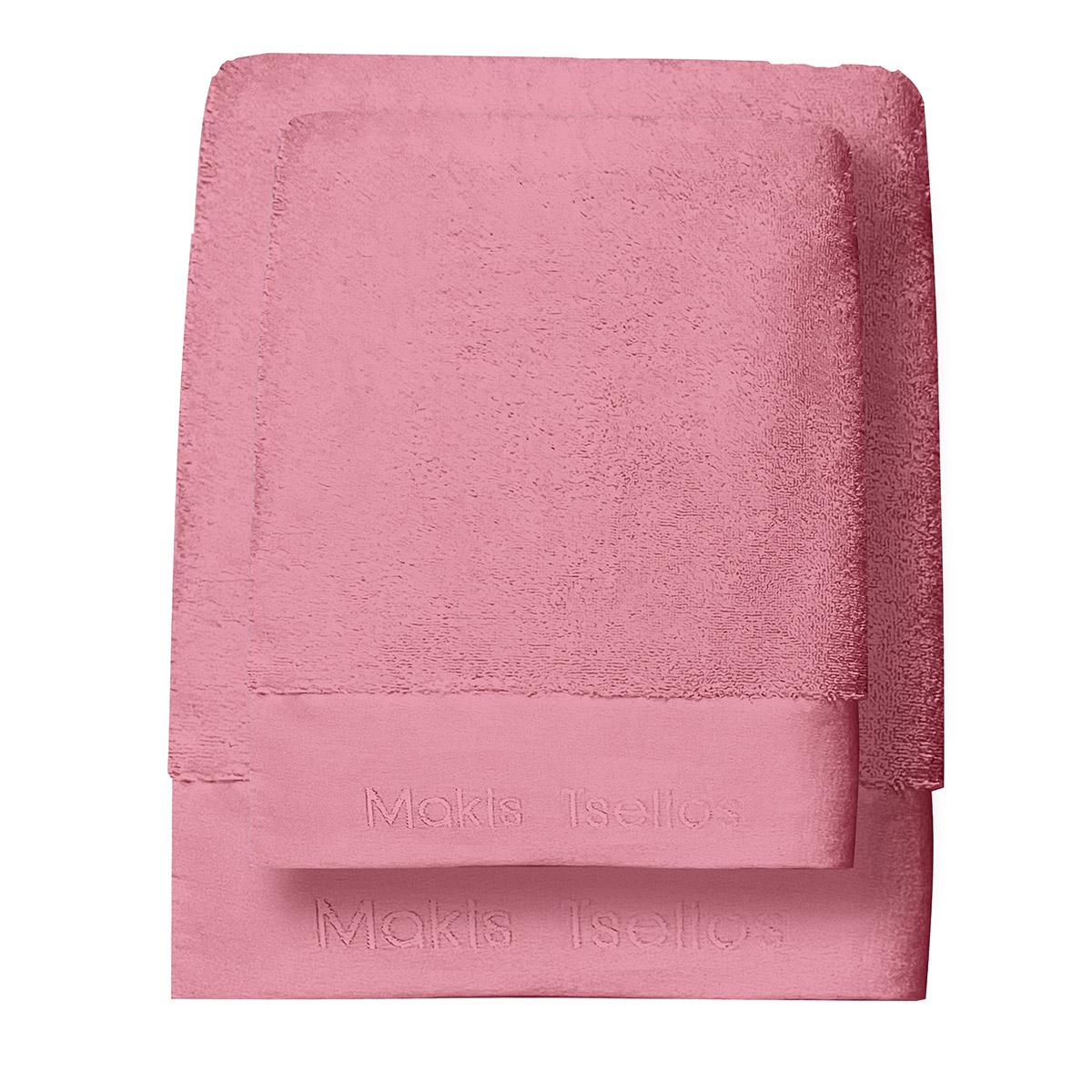 Πετσέτες Μπάνιου (Σετ 3τμχ) Makis Tselios Feel 8 Blush