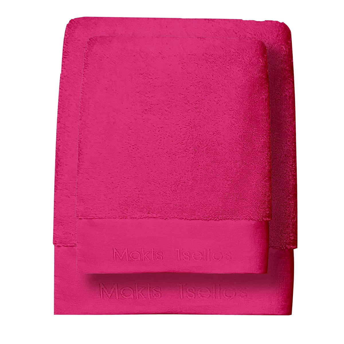Πετσέτες Μπάνιου (Σετ 3τμχ) Makis Tselios Feel 6 Camelia Rose