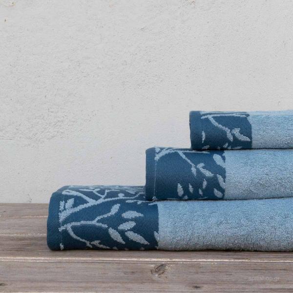 Πετσέτες Μπάνιου (Σετ 3τμχ) Kocoon Madlen Blue