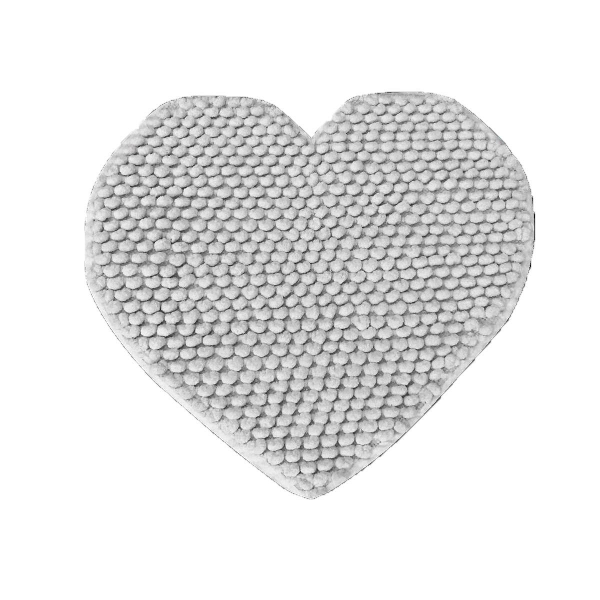 Πατάκι Μπάνιου (65×65) Makis Tselios Cuore Silver