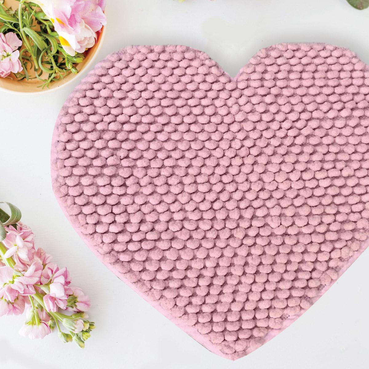 Πατάκι Μπάνιου (65×65) Makis Tselios Cuore Pink
