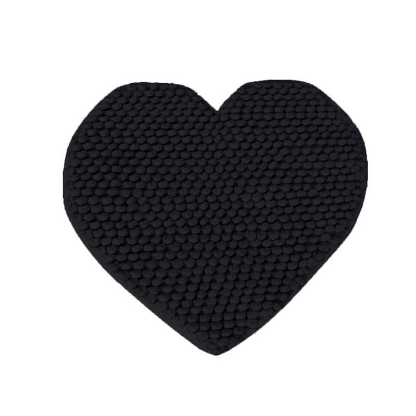 Πατάκι Μπάνιου (65x65) Makis Tselios Cuore Black