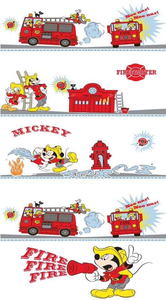 Παιδική Κουρτίνα (140×290) Disney Mickey MK009 White