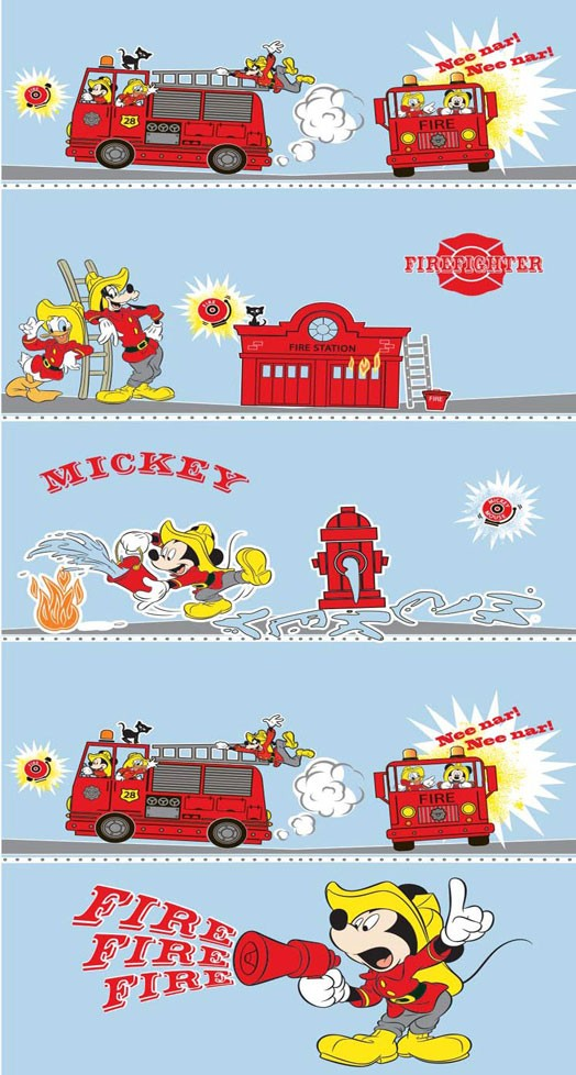 Παιδική Κουρτίνα (140x290) Disney Mickey MK009 Blue