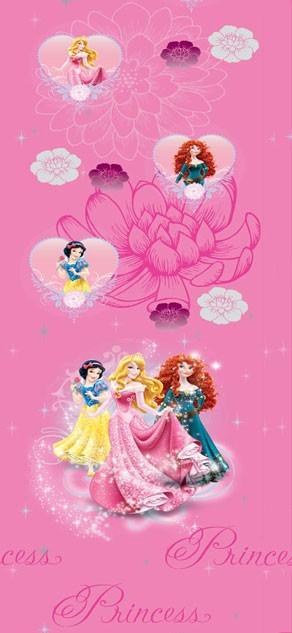 Παιδική Κουρτίνα (140x290) Disney Princess PR015 Pink