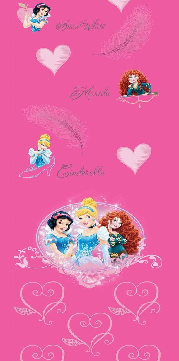 Παιδική Κουρτίνα (140×290) Disney Princess PR016 Pink