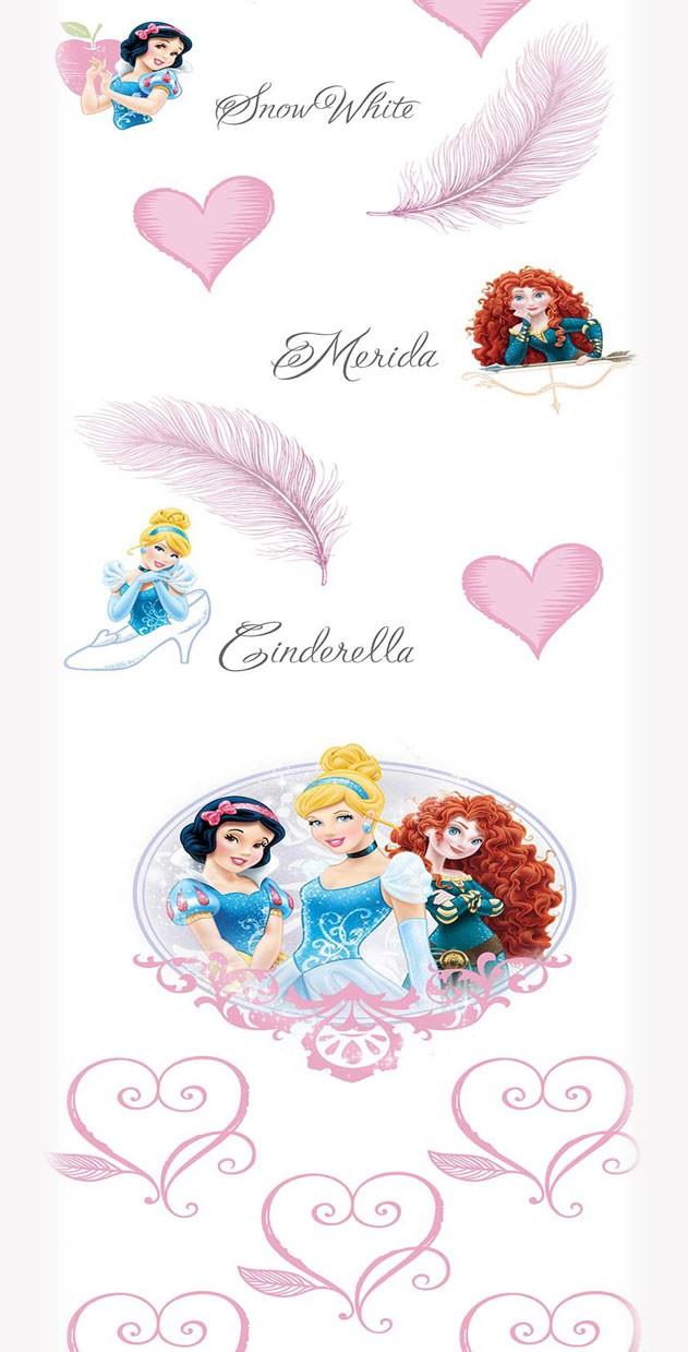 Παιδική Κουρτίνα (140x290) Disney Princess PR016 White