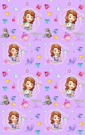 Παιδική Κουρτίνα (140x290) Disney Sofia SF001 Purple