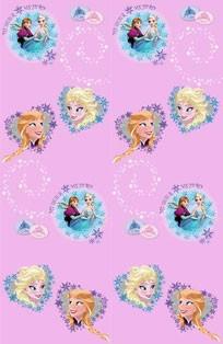 Παιδική Κουρτίνα (140x290) Disney Frozen FR001 Pink