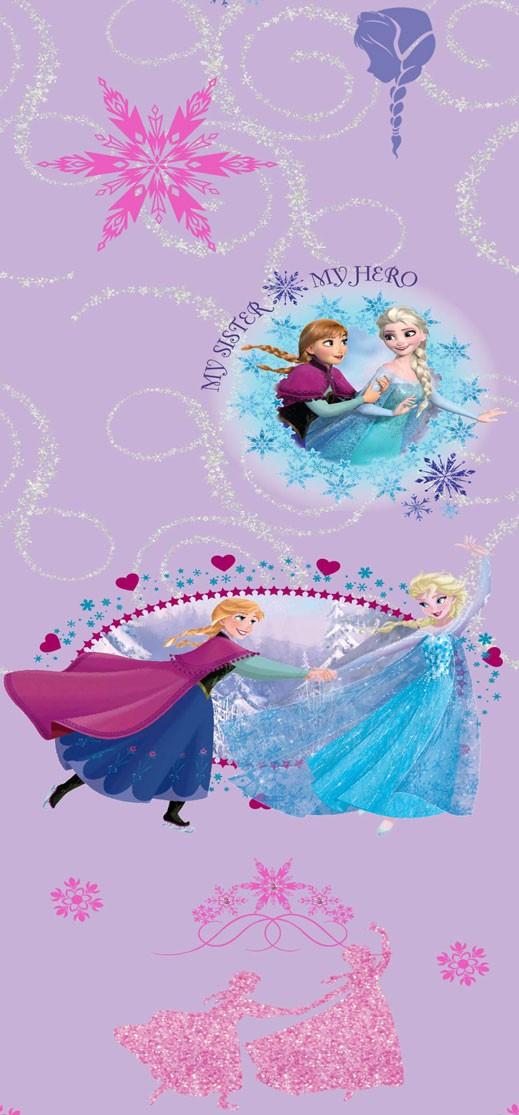 Παιδική Κουρτίνα (140x290) Disney Frozen FR002 Purple