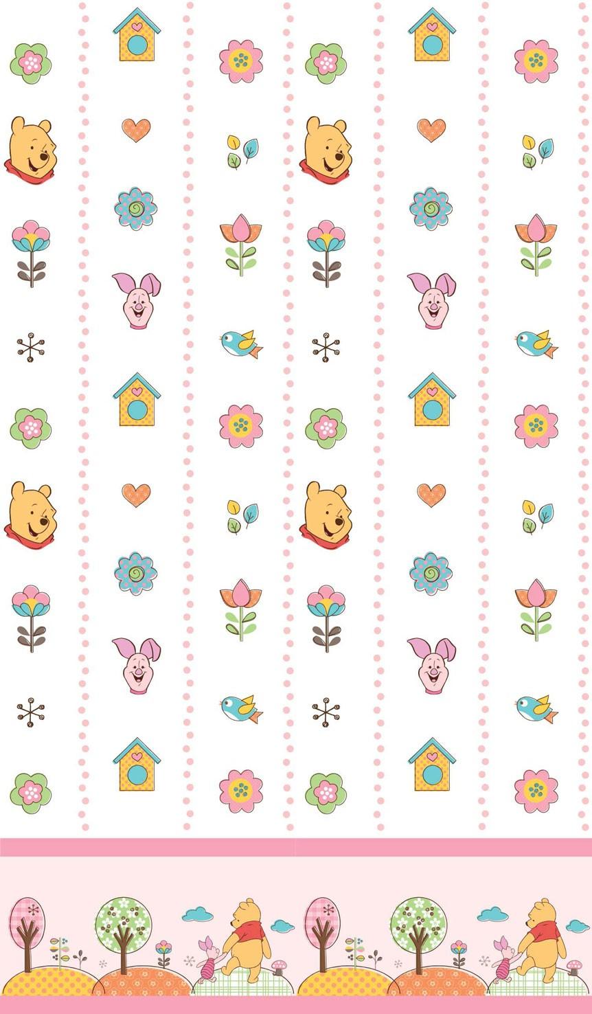 Παιδική Κουρτίνα (140×290) Disney Winnie WP013 White