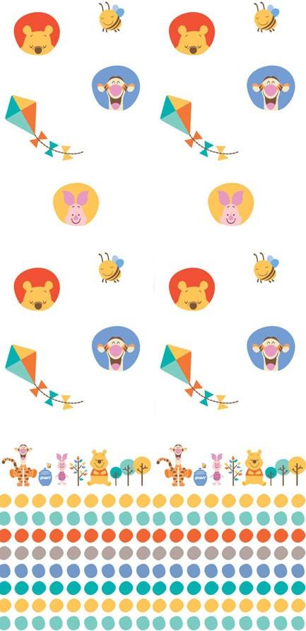 Παιδική Κουρτίνα (140×290) Disney Winnie WP014 White