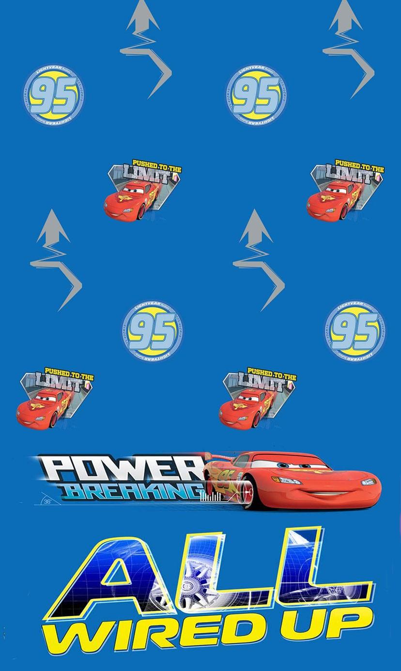 Παιδική Κουρτίνα (140x290) Disney Cars CA103 Blue