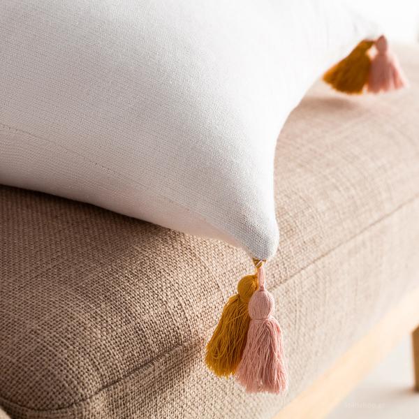 Διακοσμητική Μαξιλαροθήκη (43x43) Gofis Home Rib Mustard 303/10