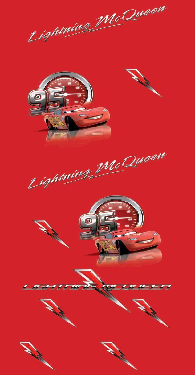 Παιδική Κουρτίνα (140x290) Με Τρέσα Disney Cars CA110 Red