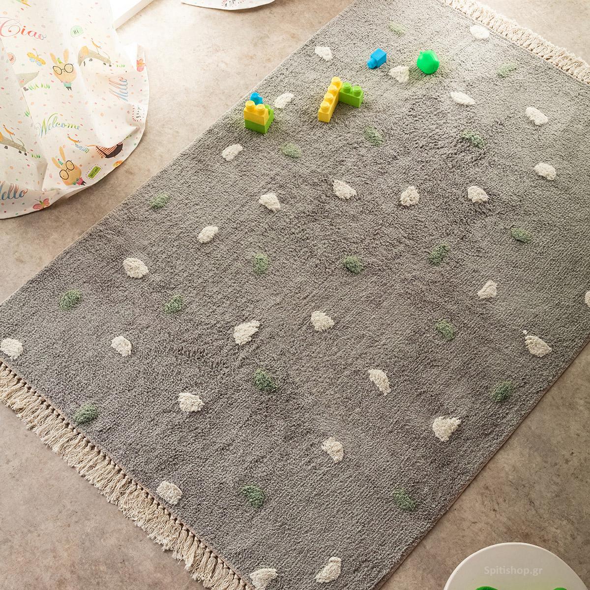 Παιδικό Χαλί (120×170) Gofis Home Fluffy Grey 113/15