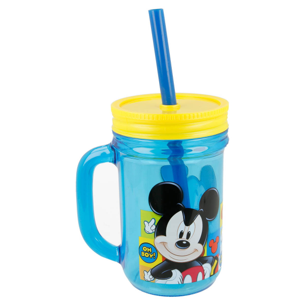Ποτήρι Με Καλαμάκι Stor Mickey Mouse 19001
