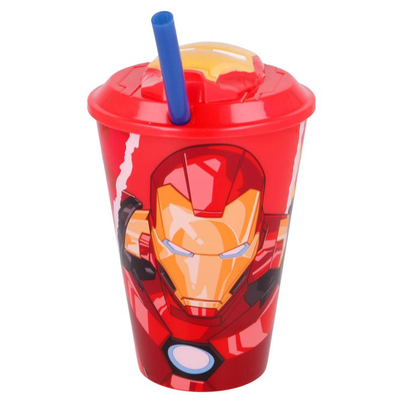 Παγούρι Με Καλαμάκι Σιλικόνης 200ml Stor Iron Man 31557