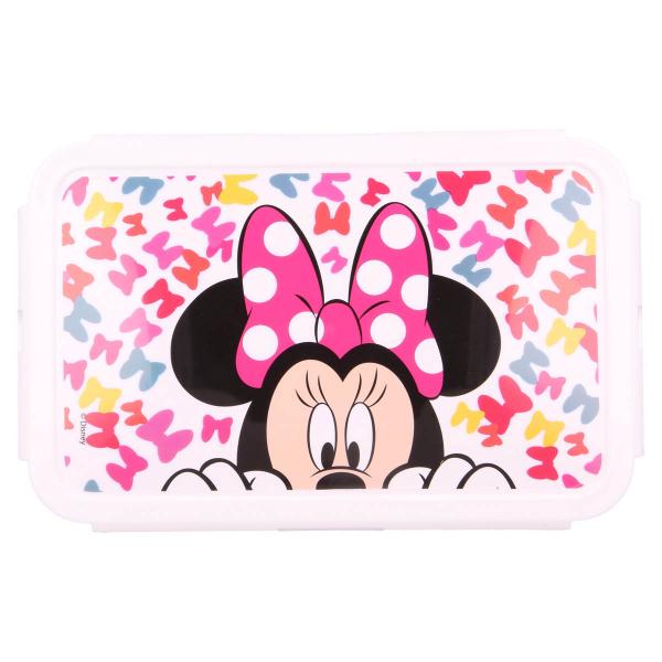 Φαγητοδοχείο 1190ml Με Καπάκι & Χώρισμα Stor Minnie Mouse 51145