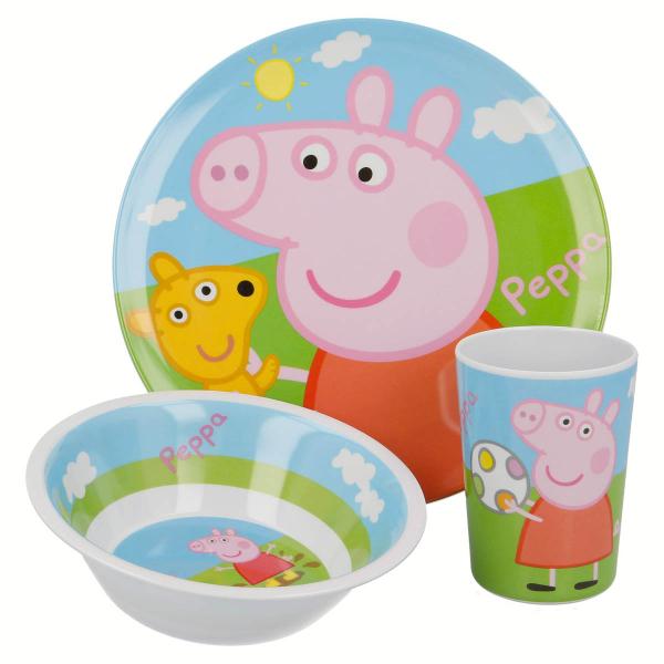 Παιδικό Σετ Φαγητού 3τμχ Stor Peppa Pig 48690