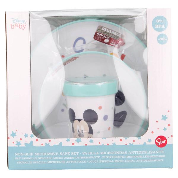 Παιδικό Σετ Φαγητού 3τμχ Stor Mickey Mouse 13095