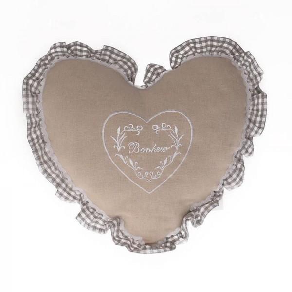 Διακοσμητικό Μαξιλάρι Καρδιά InArt Bonheur 0010