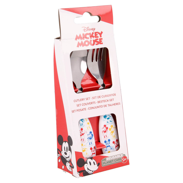 Κουτάλι + Πιρούνι (Σετ) Stor Mickey Mouse 60128